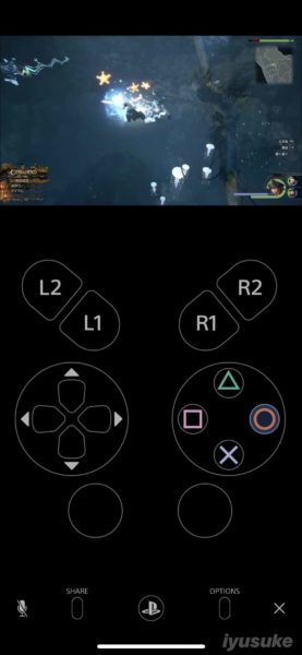 iPhone PS4 リモートプレイ