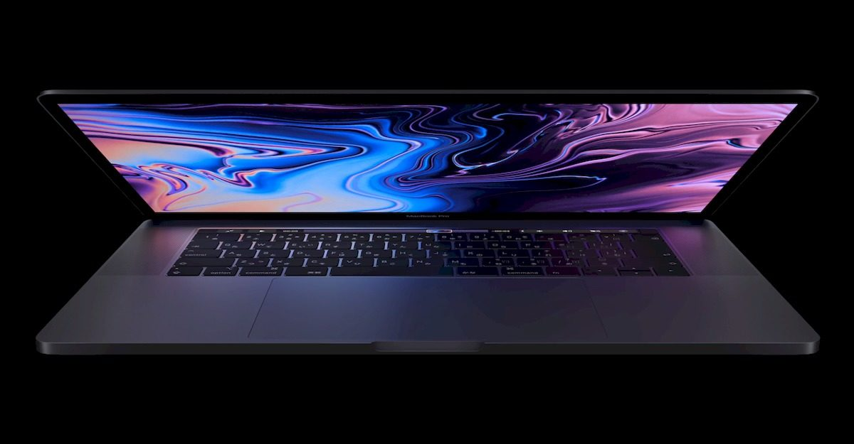 2019年モデルのMacbook Pro Touch bar