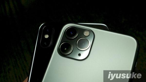 iPhone XとiPhone 11のカメラ 比較