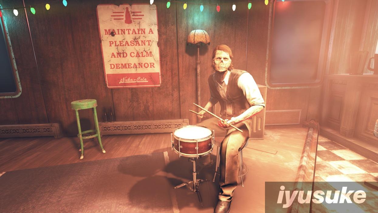 Fallout 76 手の震えをドラムでごまかすモート