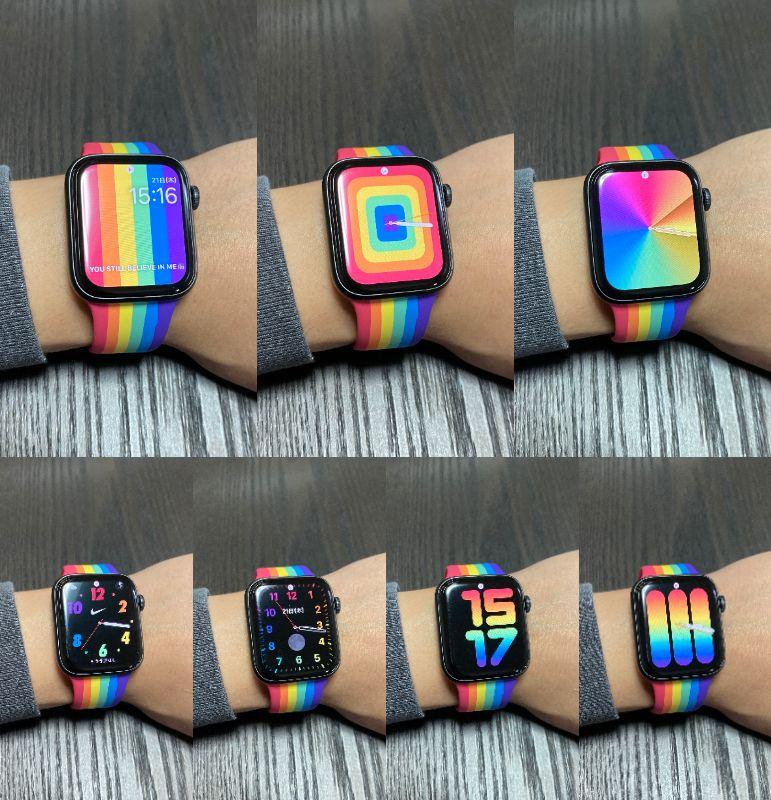 Apple Watch プライドエディションの文字盤