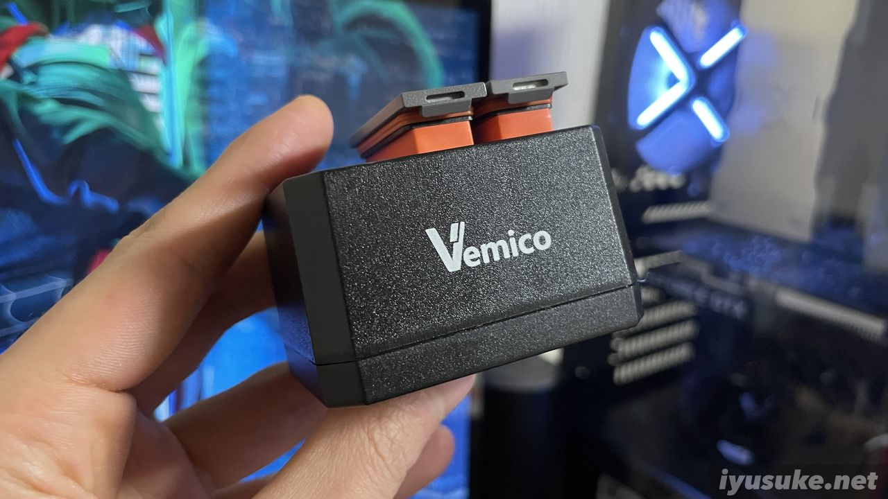osmo action 互換バッテリー vemico
