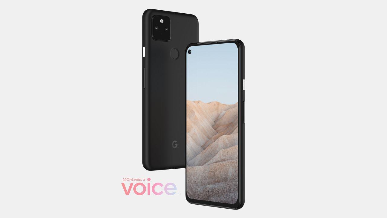 Google Pixel 5a5g レンダリング画像 デザイン
